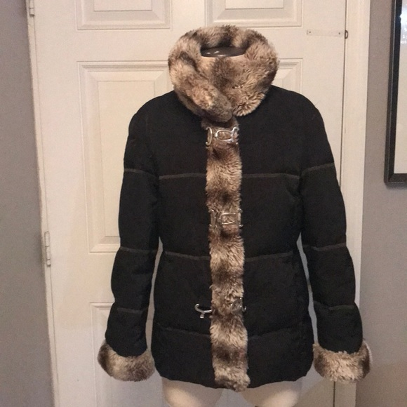 hilary radley Jackets & Blazers - Hilary Radley Down Faux fur Winter Jacket